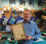 Mike with the Aspire award